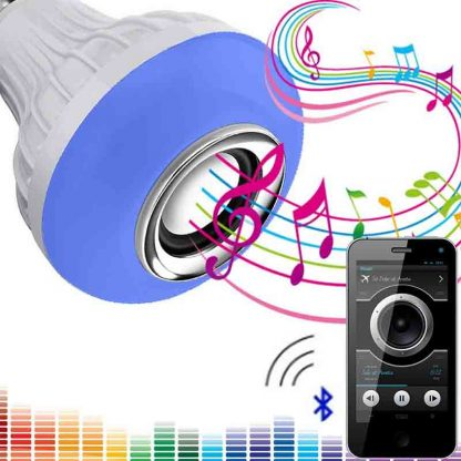 12W E27 LED RGB Wireless Bluetooth Speaker Light Bulb Music Playing Lamp +Remote