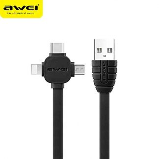 Awei 1m length 3 in 1 Multi Charging Cable CL-82