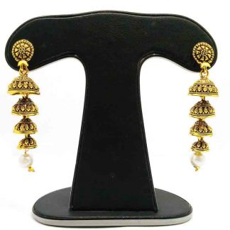 Four shaped long jhumka