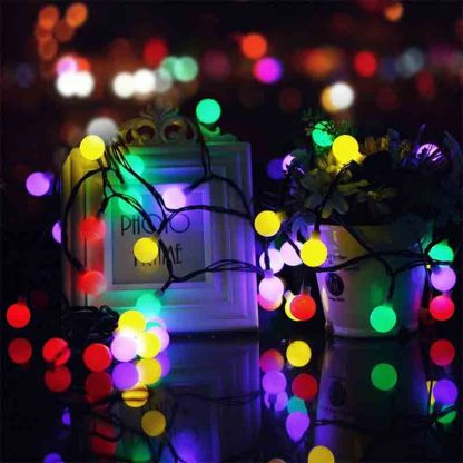 LED Ball Shaped String Fairy Lights
