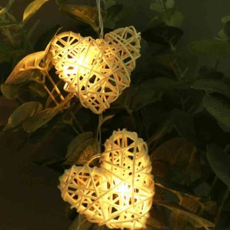 LED Rattan Love Heart Type Lamp Fairy String Hanging Lights