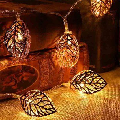 Leaf strip metal led light