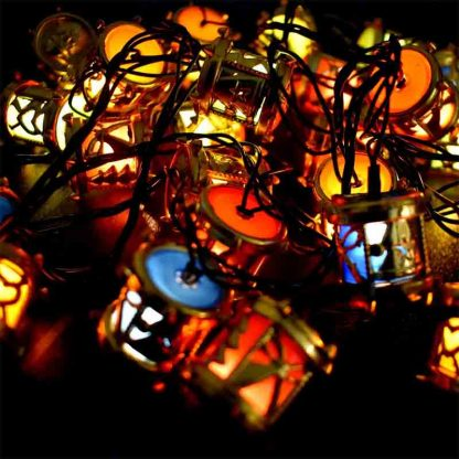 Led dhool Shaped String Lights for indoor outdoor wedding party decoration
