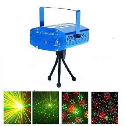 Mini Holographic LASER Star Projector Stage Multi Pattern Lighting Music and Auto-Mode