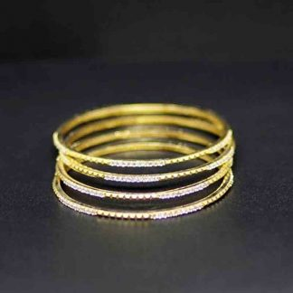 Gold Plated Copper Stone Bangle for Women