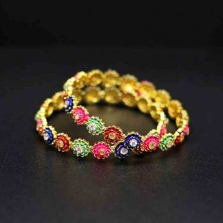 Gold Plated Multicolor Bangle for Women