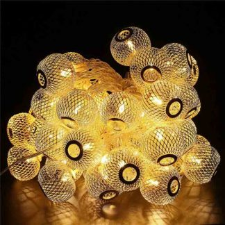 Golden Metal Balls String Led Lights