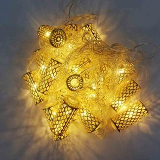 Golden Tube Cylindrical 20 LED Bulbs String Lights