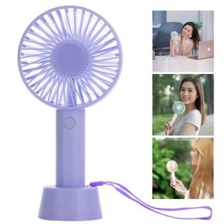 New Mini Rechargeable USB Charging Portable Handheld 3 Gear Speed Desktop Fan F08