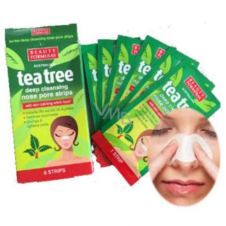 Beauty Formulas Tea Tree Deep Cleansing Nose Pore Strip -6pic Box