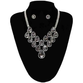 Crystal Pendant Jewellery Set for Girl and Women