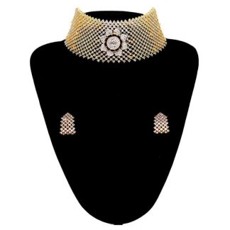 Exclusive AD Necklace with Earrings for Women
