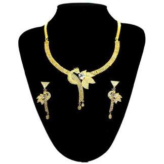 Gold Plated American Diamond Stone Jewellery Set for Women