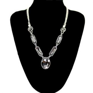 Long Crystal Pendant Necklace for Girl & Women
