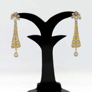 Gold Plated Diamond Cut Earring