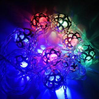 Metal ball string light