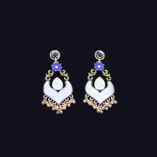 Antique Metal Silver Earring for Women