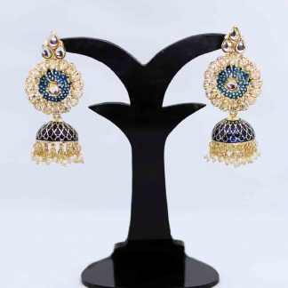 Gold Plated Earring Stone Jhumka