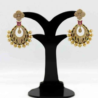 Gold Plated Diamond Cut Earring