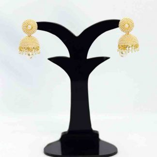 Gold Plated Earring Pearl Jhumka