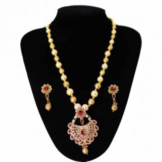 Gold Plated Jewelry Set Copper Locket Necklace