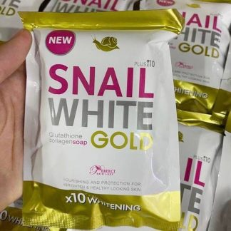 Snail White GOLD Glutathione Collagen Soap 80gm