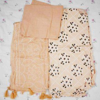 Chinese Linen With Batik Print Salwar Kameez For Women