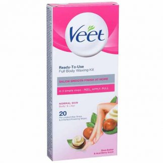 Veet Ready To Use Full Body Waxing Kit Normal Skin Pack Of 20