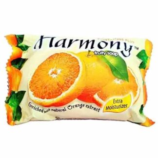 Harmony Fruity Orange Soap - 60 gm. Product Type: Soap. Brand: Harmony. Gender: Unisex. Capacity: 60 gm. Flavor: Orange extract. Country of Origin: Indonesia. For All Skin Type. Extra moisturizing and soothing effects.
