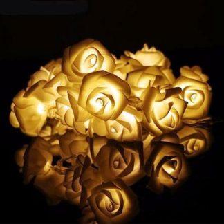 White rose fairy led lights for decoration, party light