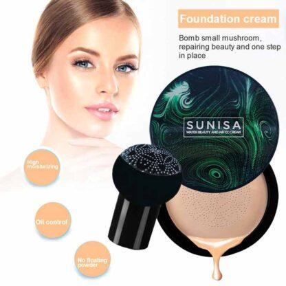 1PC sunisa Waterproof Natural Brightening Mushroom Head Air Cushion BB Cream Long Lasting Foundation Control Moisturizing Foundation