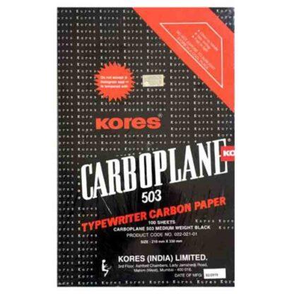 Kores Typewriter Carbon Paper 503, 210 x 330mm, Black
