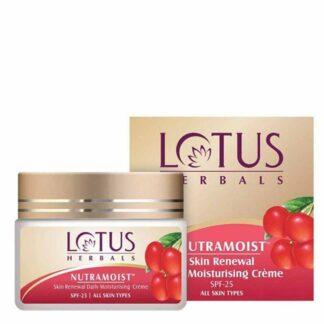 Lotus Herbals Skin Renewal Daily Moisturizing Creme with SPF 25 - 50gm