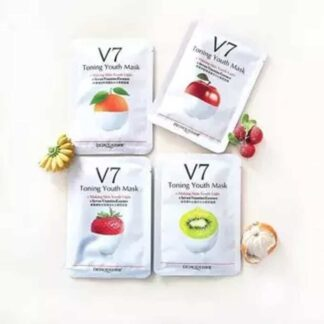 Bioaqua V7 Toning Youth Facial Fruit Sheet_Mask- 4 Piece Combo Pack
