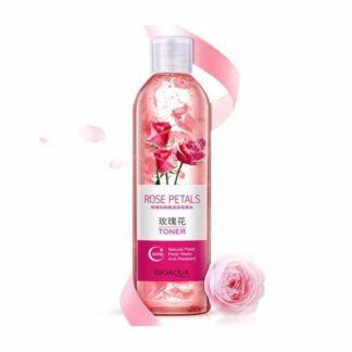 Bioaqua Rose Petals Essence Water Face Toners Shrink Pores Anti-aging Whitening Moisturizing Oil Control Skin Care Toner 250ml