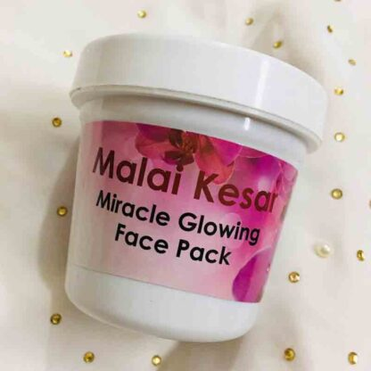 Malai Kesar Miracle Whitening glowing face pack