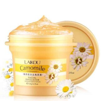 LAIKOU Camomile Natural Organic Facial Exfoliator Scrub Peeling Cream Face Gel Skin Care Body Scrub Cream 120g