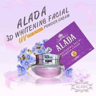 100% Authentic New ALADA 3D WHITENING FACIAL POWDER CREAM 10 G. With SPF 50
