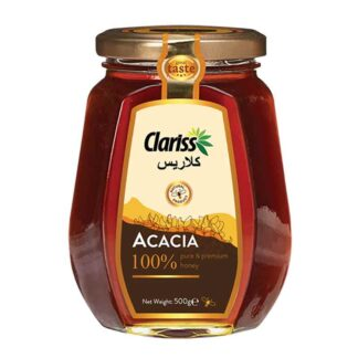 Clariss Acacia Honey- 500gm Octagonal Glass Bottle