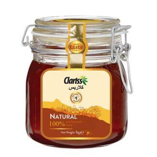 Clariss Natural Honey- 1kg Clip Jar Glass Bottle