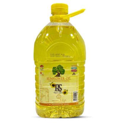 RS Sunflower Oil: 3 Litre Pet Drum