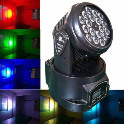 18 LED Mini-LED Moving Head Light (Black)
