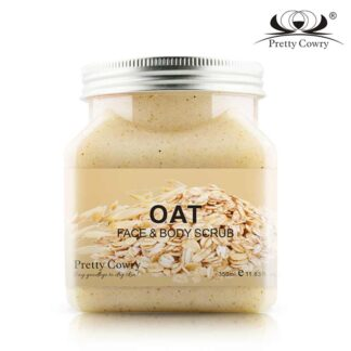 Original Pretty Cowry Facial Scrub Body Scrub Natural Extract Oats – 350ml
