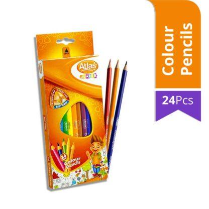 Atlas Junior Colour Pencils (24Pcs)
