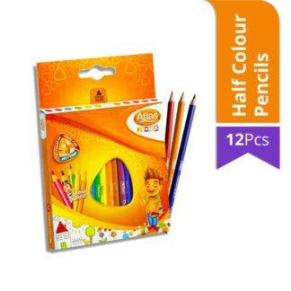 Atlas Junior Half Colour Pencils (12Pcs)