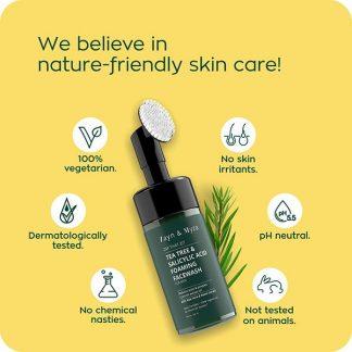 Zayn and Myza Tea Tree & Salicylic Acid Foaming Facewash - For Men